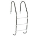 Escada Tradicional 1 1/2´´ em Aço Inox 3 Degraus Anatômicos em ABS